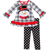 Black/White Snowman Applique Set 6 Emily Rose Holiday Set