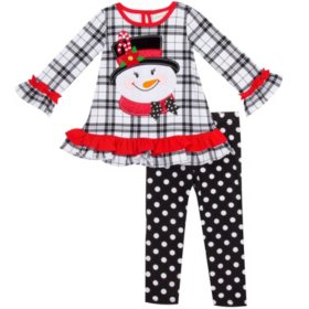 Emily Rose Girl's Holiday Legging Set (Various Styles)