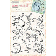 Autumn Leaves Stampology Full Sheet Clear Stamps -