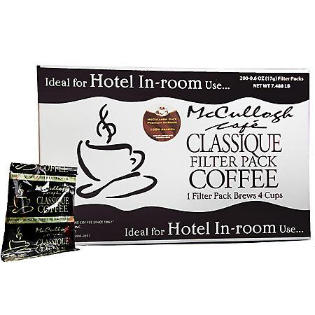 McCullagh Cafe Classique Premium Blend Coffee (200 ct.)
