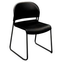 HON Guest Stacker Series Chair, Black (4 pk.)