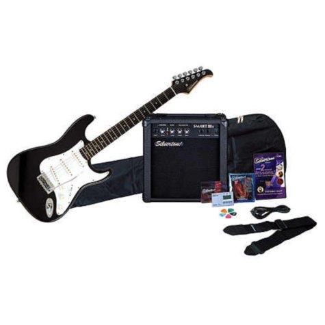 Silvertone Electric Guitar Package - Black
