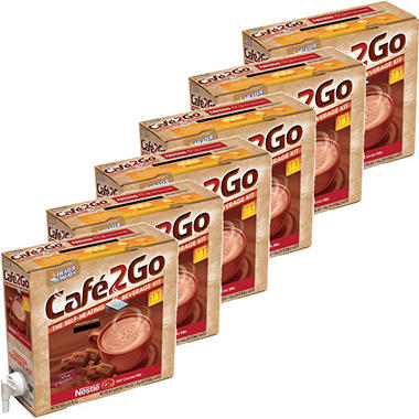 Cafe2Go Self-Heating Beverage Kit - Hot Cocoa, 6 pk.
