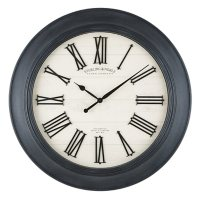 """30"""" Sterling & Noble Farmhouse Wall Clock with Raised Roman Numerals (Assorted Colors)"""