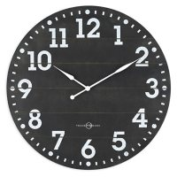"""23"""" Sterling & Noble Black Frame-less MDF Rustic Farmhouse Wall Clock"""