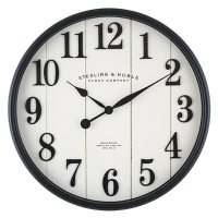 """22"""" Sterling & Noble Modern Farmhouse Wall Clock with Raised Arabic Numbers"""