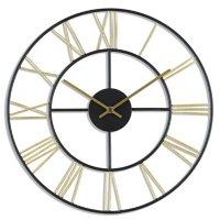 """16"""" Sterling & Noble Modern Open Roman Metal Wall Clock"""