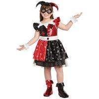 Girls' Superhero Harley Quinn Costume (Assorted Sizes)