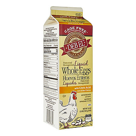 Deb El Cage Free Liquid Whole Eggs (32 oz.)