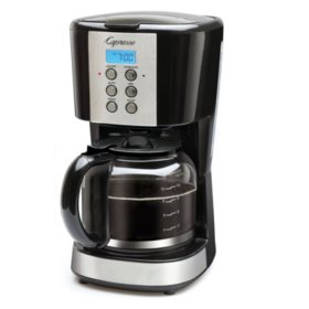 12-Cup Drip Coffee Maker with Glass Carafe