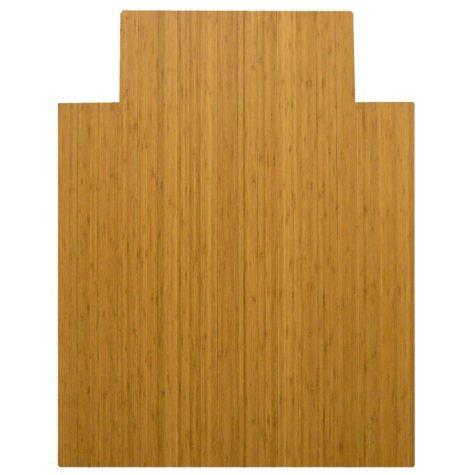 "Anji Mountain Bamboo Roll-Up Chairmat, 36"" x 48"", with lip"