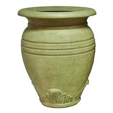 "28"" H Large Greek Olive Jar-Aged Limestone Finish"