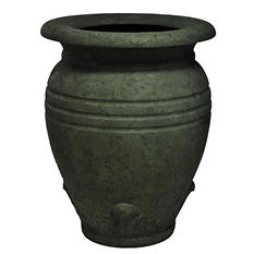 "28"" H Large Greek Olive Jar-Old Stone Finish"