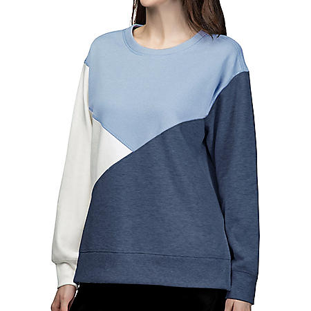 Green Tea Women's Colorblock Sweatshirt
