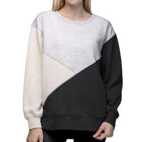 Green Tea Women's Colorblock Sweatshirt