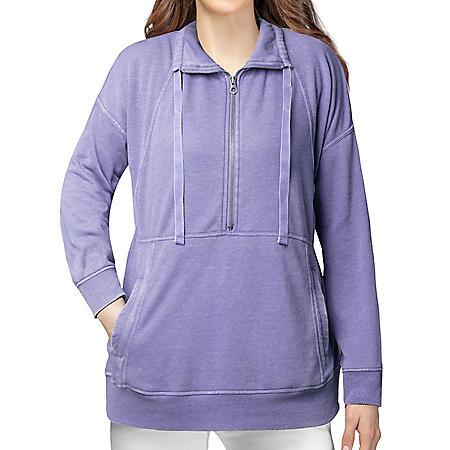 Tangerine Women's 1/4 Zip Pullover