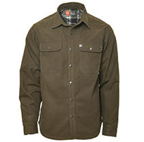Olive/Grey L American Outdoorsman Canvas Shirt Jacket