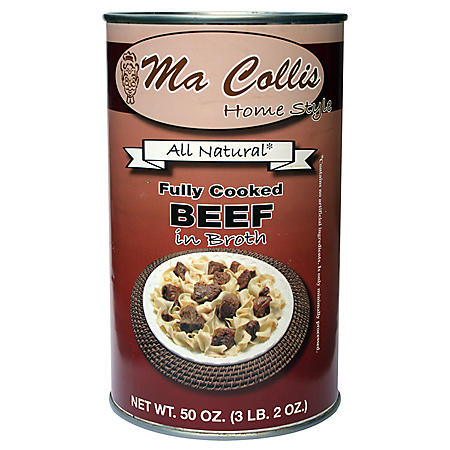 Ma Collis Fully Cooked Beef in Broth (50 oz.)