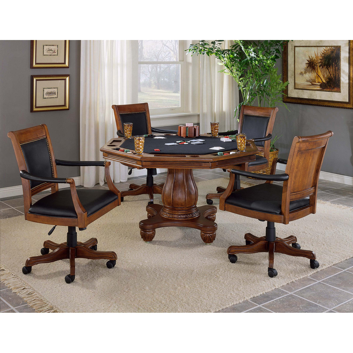 Hillsdale Furniture Kingston 5 Piece Game Table and Chairs set