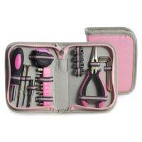 Bey Berk 23 pc. Tool Set in Pink Canvas Case