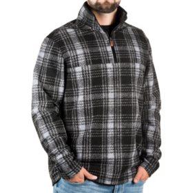John Wayne Wooly Fleece Plaid Pullover