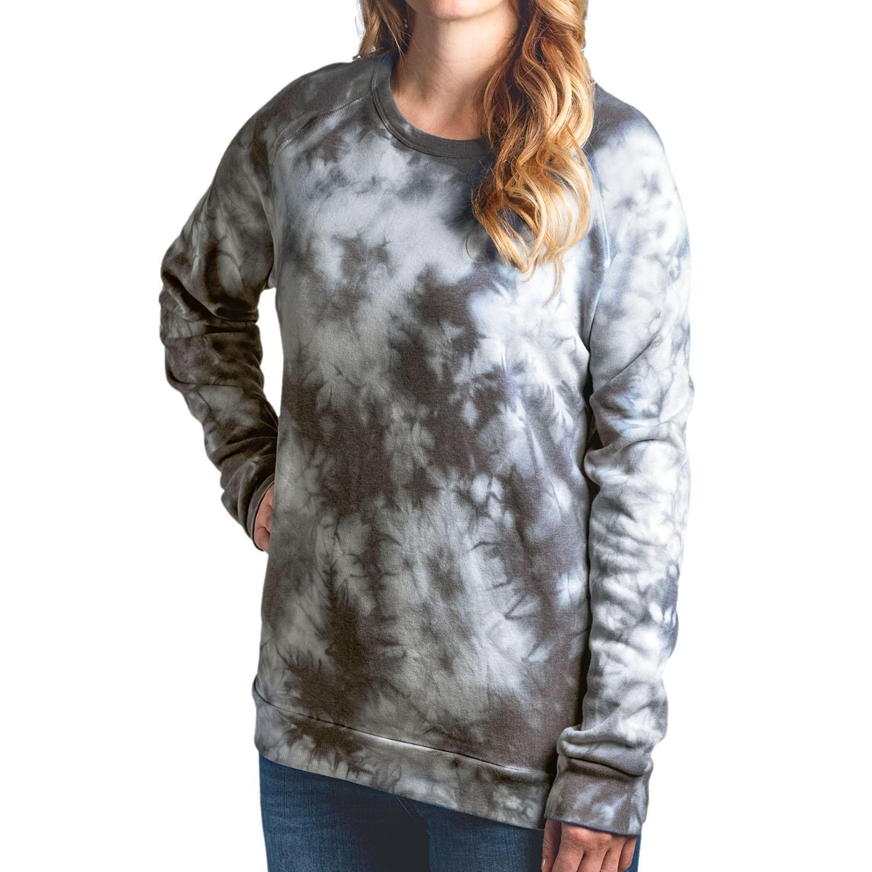 Modern Canvas Ladies Tie Dye Sweatshirt