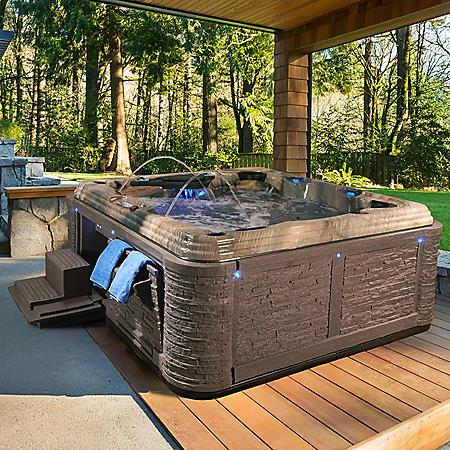 Everlast Spas Grand Estate 90-Jet Acrylic Spa, Tuscan Sun