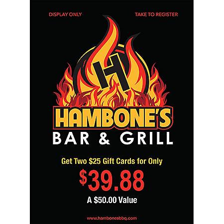 Hambone's - 2 x $25