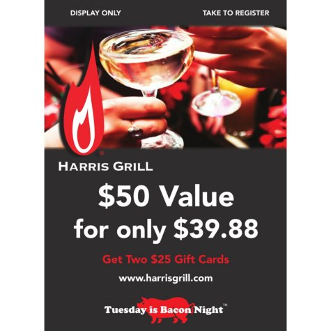 Harris Grill - 2 x $25