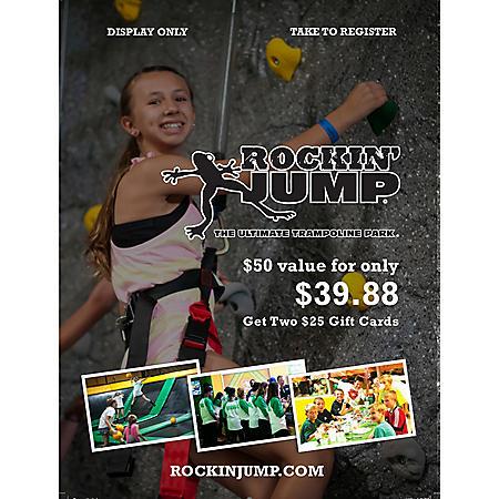 Rockin Jump Williamstown - 2 x $25 Giftcards