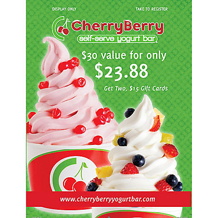 Cherry Berry (Bismarck, ND) $30 Value Gift Cards - 2/$15