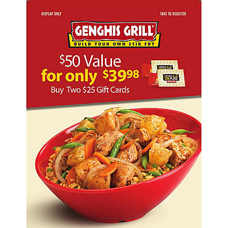 Genghis Grill - 2 x $25