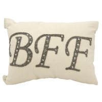 """Champagne Beaded Bff 12"""" x 18"""" Decorative Pillow By Nourison"""