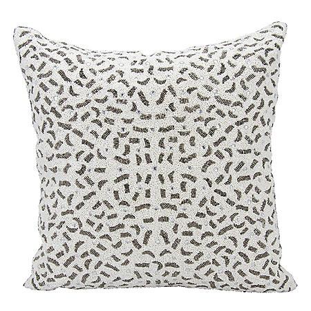 """Pewter Mosaic Tile 20"""" x 20"""" Decorative Pillow By Nourison"""