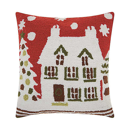 Nourison Holiday House Decorative Pillow