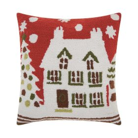 Nourison Holiday House Decorative Pillow