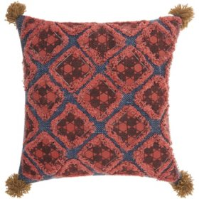 Mina Victory Life Styles Diamond Patches Throw Pillow, Multicolor