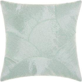 """Celadon Fan Design 20"""" x 20"""" Decorative Pillow By Nourison"""