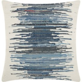 Mina Victory Life Styles Woven Ombre Denim Throw Pillow