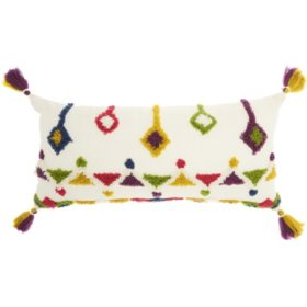 Mina Victory Life Styles Textured Designs Throw Pillow, Multicolor