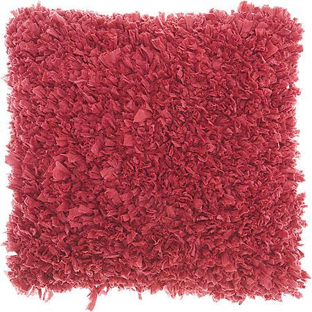Mina Victory Chindi Short Cut Shag Throw Pillow, Hot Pink