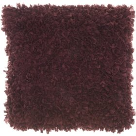 Mina Victory Chindi Short Cut Shag Throw Pillow, Purple