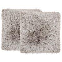 "Mina Victory Yarn Shimmer Shag Pillows, Set of 2 (17"" X 17"")"