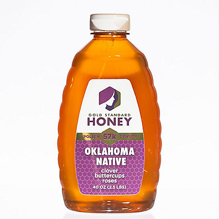 Gold Standard Honey Pure Unfiltered Oklahoma Native Wildflower Honey (40 oz.)