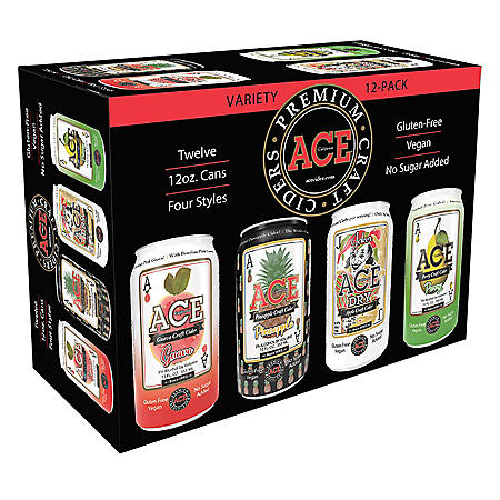 Ace Premium Craft Ciders California Variety Pack (12 fl. oz. can, 12 pk.)