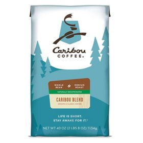 Caribou Coffee Whole Bean, Decaf Caribou Blend (40 oz.)