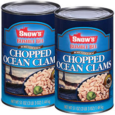 Doxsee Snow's Ocean Chopped Clams (2 ct., 102 oz.)