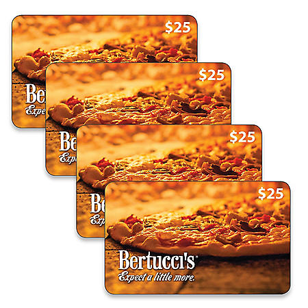 Bertucci's $100 Value Gift Cards - 4 x $25
