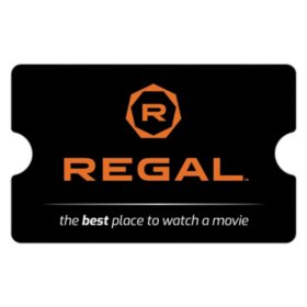 Regal Cinemas eGift Card - Various Amounts (Email Delivery)
