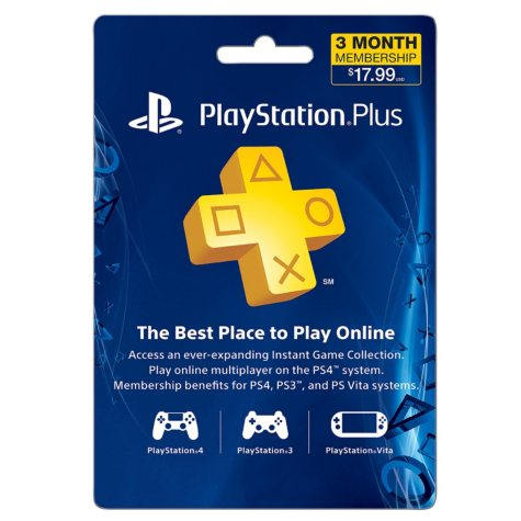 Sony Playstation Plus 3 Month $17.99 eGift Card (Email Delivery)